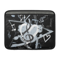 Personalized Musical Star notes designer pattern MacBook Sleeves