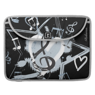 Personalized Musical Star notes designer pattern MacBook Pro Sleeve