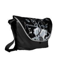 Personalized Musical Star notes designer pattern Messenger Bag