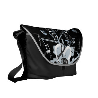 Personalized Musical Star notes designer pattern Commuter Bag