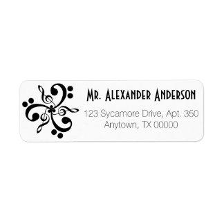 Personalized Musical Triskelion Return Address Label