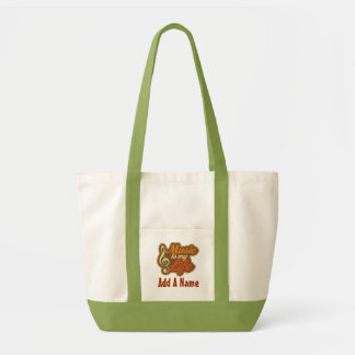 Personalized Musician Tote Bag Gift