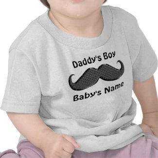 Personalized Mustache Baby Gifts Customized Shirt