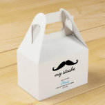 Personalized Mustache theme 1st birthday party Favor Box