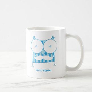 Personalized Mustached Owl Duble-sided Mug