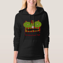 Personalized Mustached Owl Fleece Pullover Hoodie