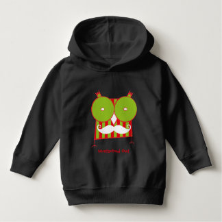 Personalized  Mustached Owl Pullover Hoodie