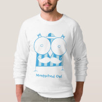 Personalized Mustached Owl Raglan Sweatshirt