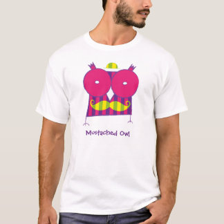 Personalized Mustached Owl T-Shirt