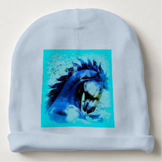personalized mustang horse baby beanie