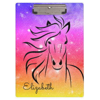 Personalized Mustang Starry Night Clipboard