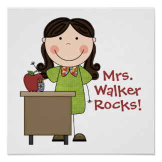 Personalized My Teacher Rocks Poster
