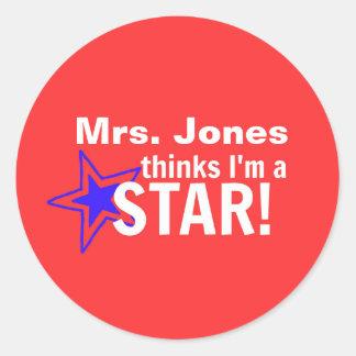 PERSONALIZED- My Teacher Thinks I'm a STAR Sticker