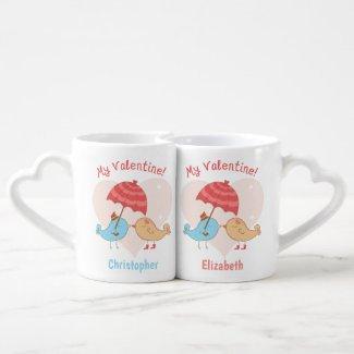 Personalized My Valentine His Hers Coffee Mug Set