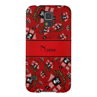 Personalized nam red pirate ships case for galaxy s5