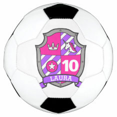 Personalized Name 10th Birthday Girls Soccer Ball at Zazzle