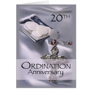 Personalized Name 20th Ordination Anniversary Card