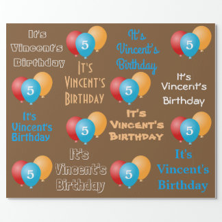 Personalized Name & Age Birthday Wrapping Paper