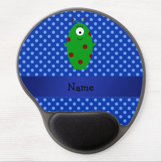 Personalized name alien blue polka dots gel mouse pads