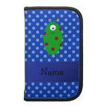 Personalized name alien blue polka dots planner