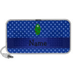 Personalized name alien blue polka dots portable speakers