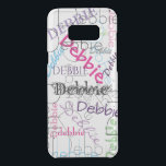 "Personalized Name all Over Uncommon Samsung Galaxy S8  Case<br><div class=""desc"">Cool clear Samsung S8  case design just change the name once and watch them all change to make this case yours. Bright bold colorful design on a clear case so you don&#39;t hide the beauty of your phone.</div>"