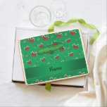 Personalized name alligator green candy canes bows jumbo cookie