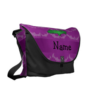 Personalized name alligator purple bats courier bags