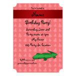 Personalized name alligator red christmas trees personalized invites