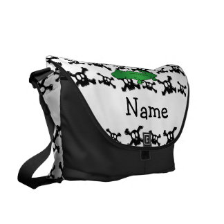 Personalized name alligator skulls pattern courier bags