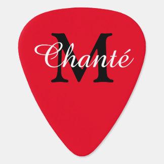 Personalized Name and Initial Monogram Guitar Pick