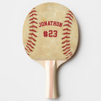 Personalized Name and Number Baseball Both Sides Ping-Pong Paddle