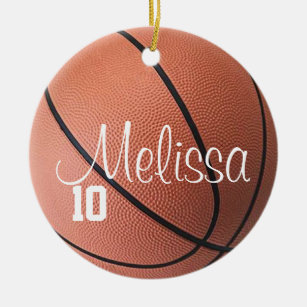 Personalized Girl Basketball Player Ornament--Large 4 M/&M Style