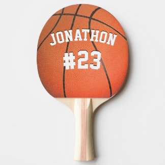 Personalized Name and Number Basketball Ping-Pong Paddle