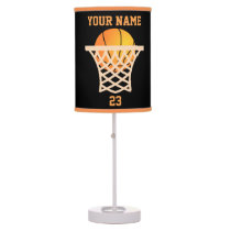 Personalized Name and Number Basketball Table Lamp