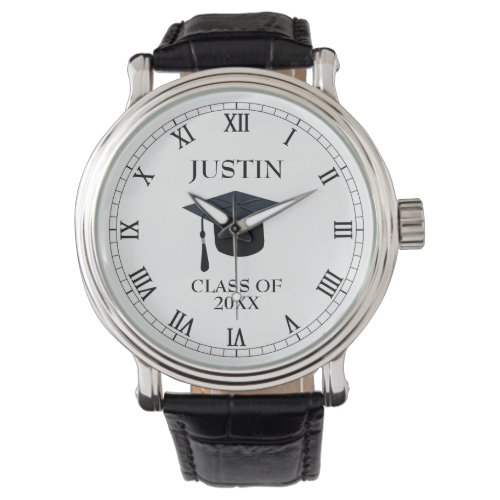 Personalized Name and Year Tassel Graduation Watch
