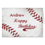 Personalized Name, Andrew Birthday Large Grunge Ba Card