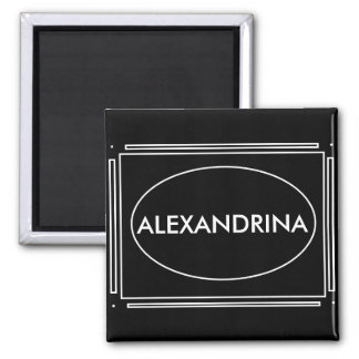 Personalized Name Art Deco Gift Magnet