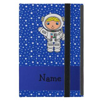 Personalized name astronaut blue stars iPad mini covers