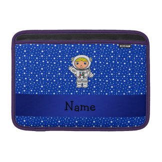 Personalized name astronaut blue stars sleeves for MacBook air