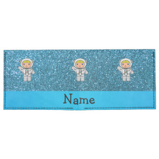 Personalized name astronaut sky blue glitter tyvek wallet
