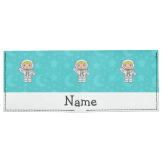 Personalized name astronaut turquoise stars moons tyvek wallet