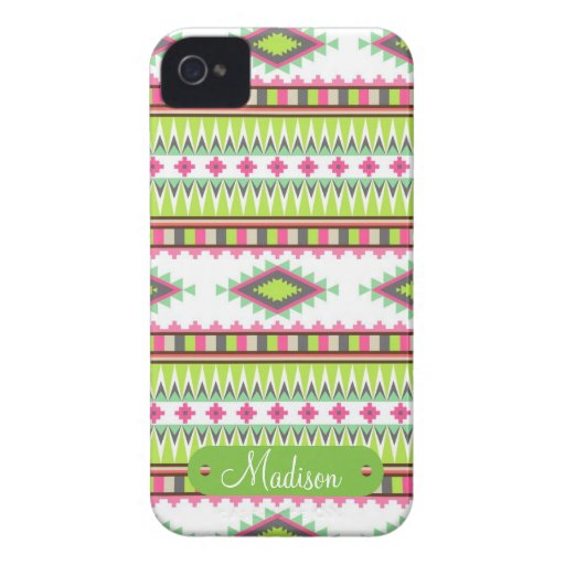 Personalized Name Aztec Andes Tribal Mountains iPhone 4 Covers