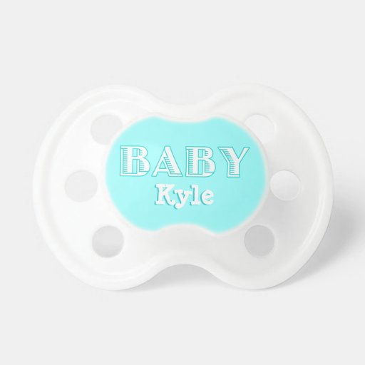 Personalized Name Baby Boy Pacifier