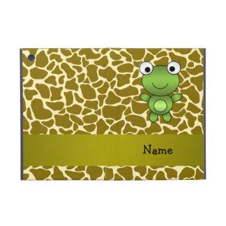 Personalized name baby frog giraffe pattern iPad mini case