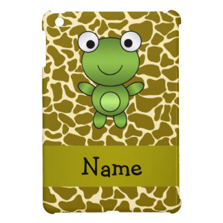 Personalized name baby frog giraffe pattern cover for the iPad mini