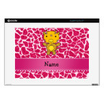 """Personalized name baby giraffe hot pink glitter 15"""" laptop decal"""