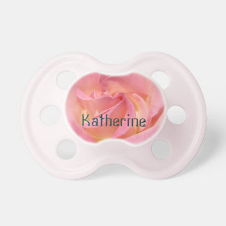 Personalized Name Baby Toddler Pacifier Pink Rose