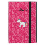 Personalized name baby unicorn pink flowers covers for iPad mini