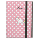 Personalized name baby unicorn pink polka dots iPad cases